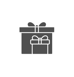 Gift boxes simple icon present sign vector