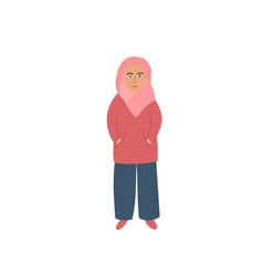 Girl woman clothing hijab character vector