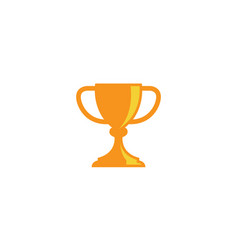 golden trophy cup for winner sports championship vector image