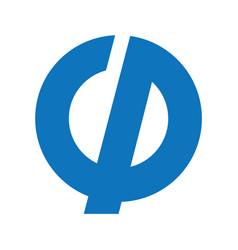 gp business or technology letter logo design vector image