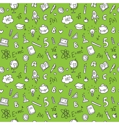 Hand drawn stationary seamless pattern vector