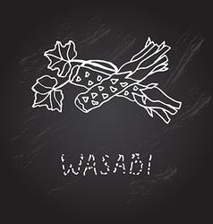 Hand drawn wasabi vector