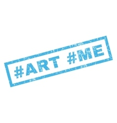 Hashtag Art Hashtag Me Rubber Stamp vector