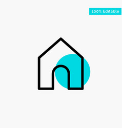 Home instagram interface turquoise highlight vector