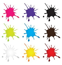 Ink drop vector