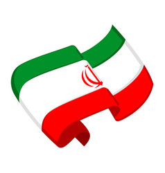Isolated flag of iran vector