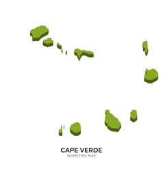 Isometric map of Cape Verde detailed vector
