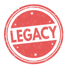 Legacy sign or stamp vector