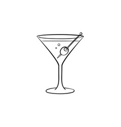 liquor hand drawn sketch icon vector image