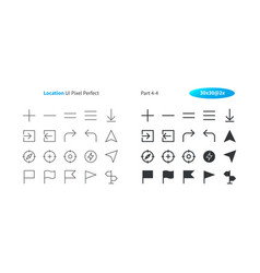 Location ui pixel perfect well-crafted thin vector
