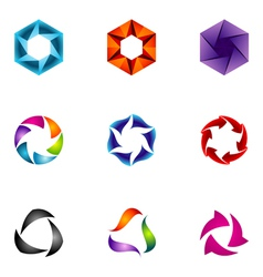 Logo design elements set 60 vector