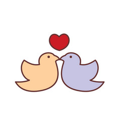 loving bird kiss abstract graphic vector image