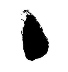 map sri lanka isolated black vector image