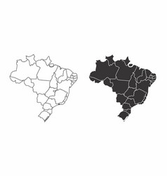 maps of brazil vector image