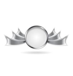 Metallic silver logo element vector