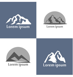 mountains logo set mountain relief view of vector image