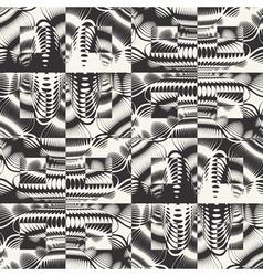 ornate textured geometric seamless pattern vector image