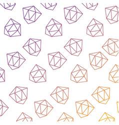 pattern style memphis diamond decoration design vector image