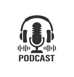 podcast studio icon vector image