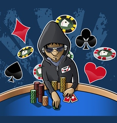 poker face vector image