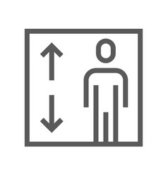 public navigation line icon elevator vector image