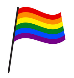 Rainbow flag commonly known as gay pride flag or vector