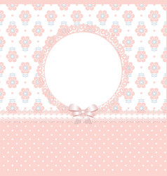 retro floral baby background vector image