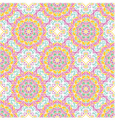 Seamless pattern tile with mandalas vintage vector