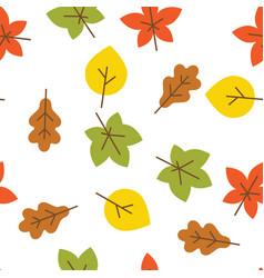 Seamless stylized leaf pattern vector