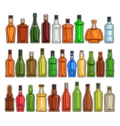Set of different bottles vector