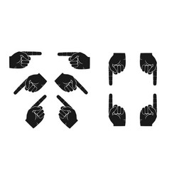 set of hands with forefingers vector image
