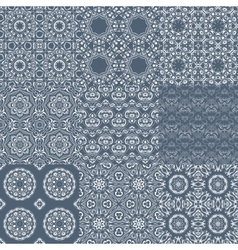 Set of seamless tileable background patterns vector