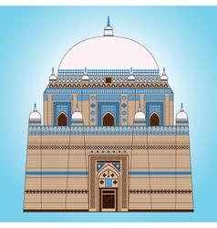 Shah Rukn-e-Alam Mausoleum vector image