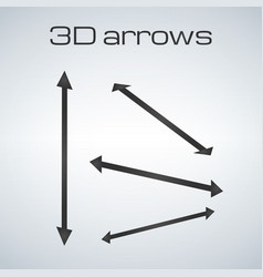 simple double sided arrows in different vector image