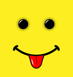 smile emoticon on yellow background vector image