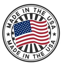 Stamp with flag of the USA Made in the USA vector