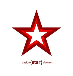 Star in perspective abstract design element vector