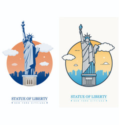 statue liberty world landmark american symbol vector image