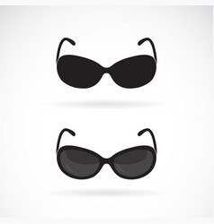 sunglasses design on white background vector image