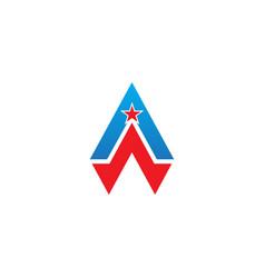 triangle shape star company logo vector image