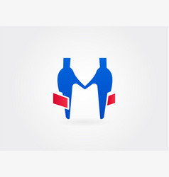 two businessman handshake sign vector image