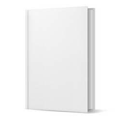 white book on white background for design vector image