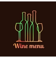 Wine menu card design vector