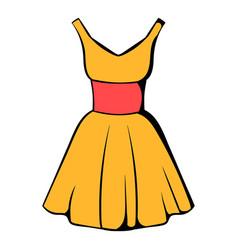 dress icon icon cartoon vector image