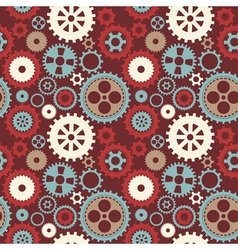 Gear cog silhouette seamless pattern vector image