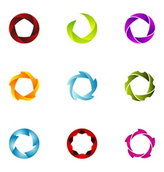 logo design elements set 61 vector image vector image