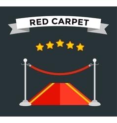 VIP zone red carpet vector image