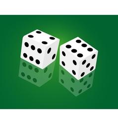 Casino dice game vector