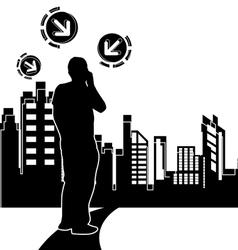 urban scene design background vector image vector image
