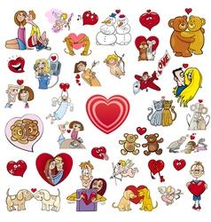 valentine big cartoon collection vector image vector image
